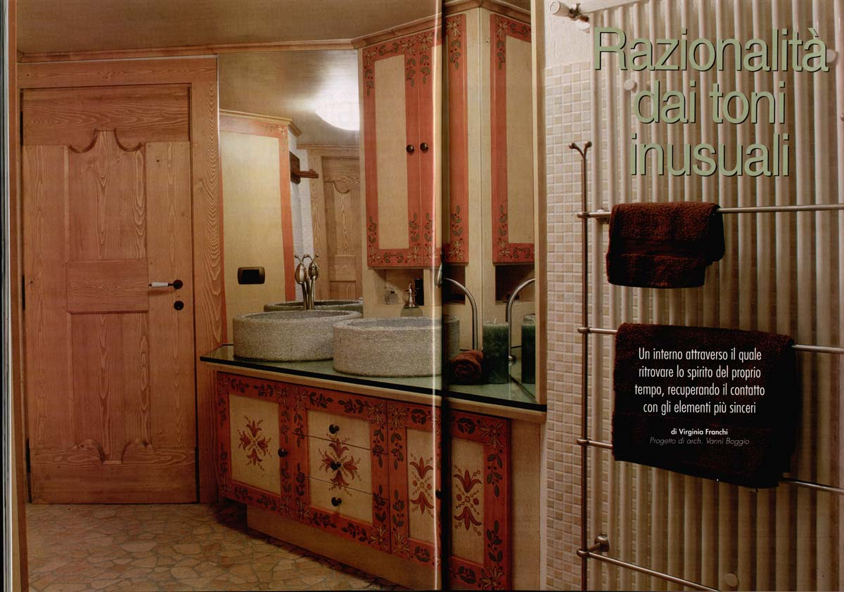 bagno cucina writes about a bathroomsauna we designed for a chalet in the mountains in issue number 4 september 2001